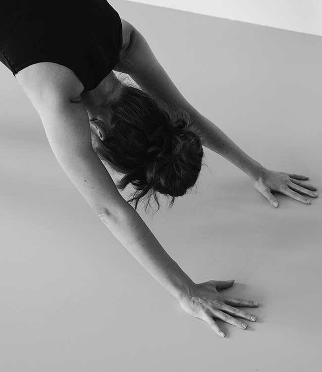 Jacqueline beim Yoga